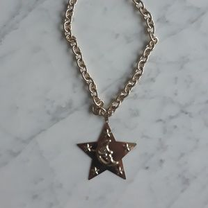 Nastygal Gold Star Necklace